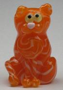 Orange Striped Flat Cat