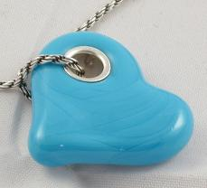 First Friday Sale Turquoise Sterling Silver Heart Pendant
