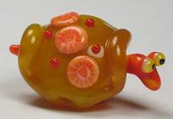 Yellow Turtle W/  Heart Murrini