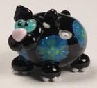 Blue Dichroic Black Fat Cat