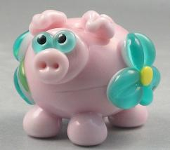 Flowered Pink Pig