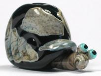 Silvered Ivory & Black Snail