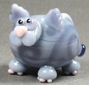 Grey & Purple Fat Cat