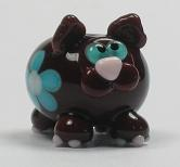 Brown & Turquoise Cat