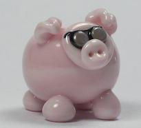 Pink Lampworking Pig