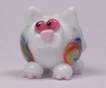 Rainbow Murrini White Cat