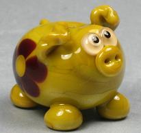 Avocado Floral Pig