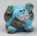 Blue & Silvered Ivory Cow