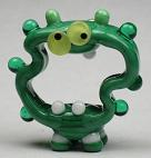 Crazy Screaming Green Alien