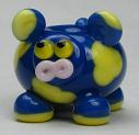 Blue & Yellow Cow