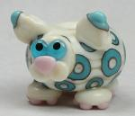 Ivory & Turquoise Spotted Fat Cat
