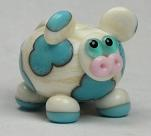 Ivory & Turquoise Cow