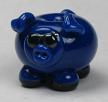 Deep Blue Blues Pig