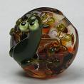 Frog on Frit Bead