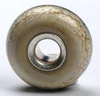 Silvered Ivory Silver Cored Bead
