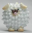 BIG Lentil Lampworking Sheep