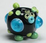 Black, Blue & Green Square Alien