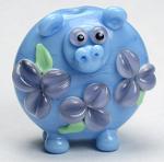 Jumbo Blue Floral Hippo