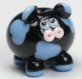 Black & Perwinkle Cow