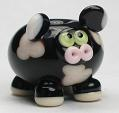 Black & Silver Pink Cow