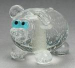 Sparkly Clear Hippo