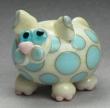 Ivory & Blue Spotted Cat