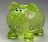 Green Sparkling Hippo