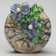 Stoned Lentil Ink Blue Floral