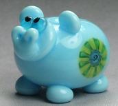 Blue Murrini Hippo