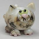 White & Silvered Ivory Cat