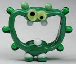 Green Screaming Alien