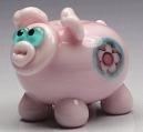 Pink Pig W/ Flower Murrini