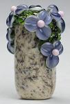 Ink Blue Tube Floral