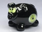 Black Pig w/ Eyeball Murrini