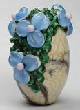 Organic Floral Olive Bead