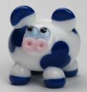 White & Blue Cow
