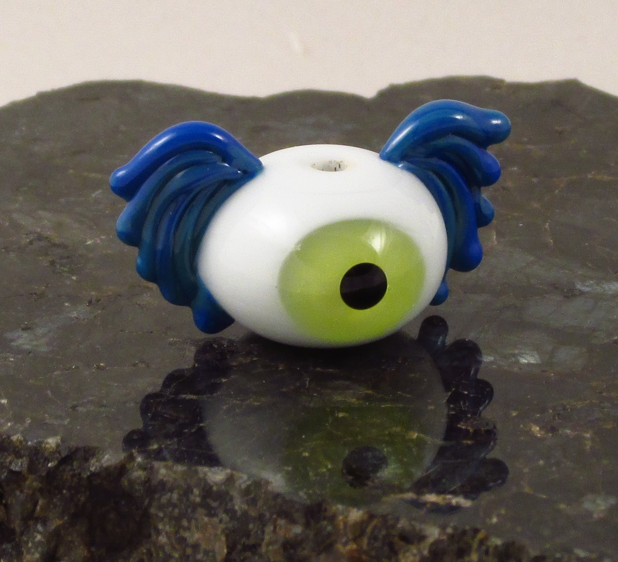 Green Blue Flying Eyeball