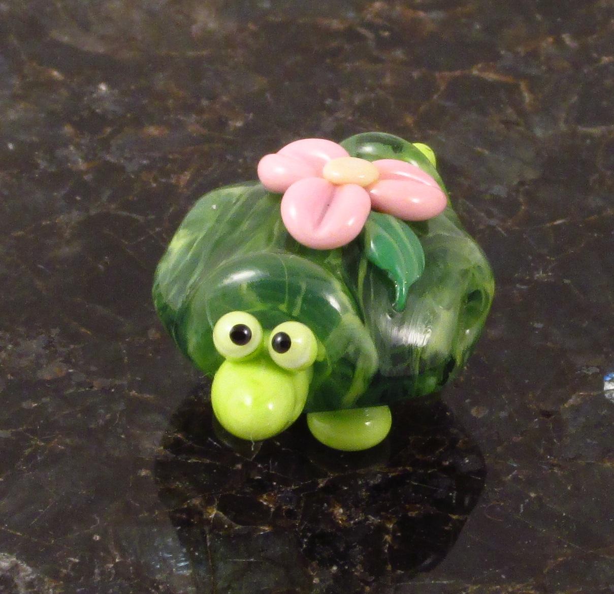 Kiwi Green Floral Turtle