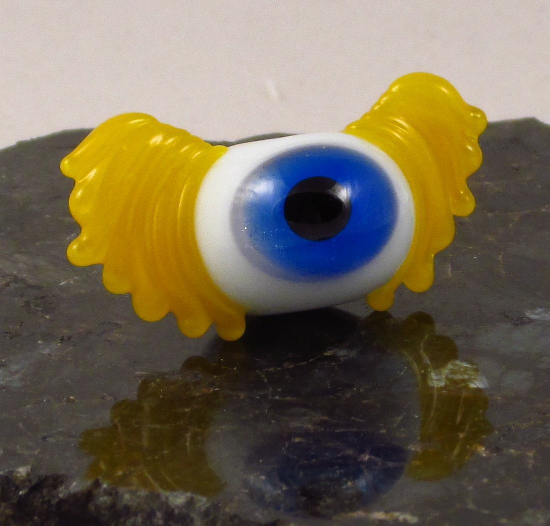 Blue & Yellow Flying Eyeball