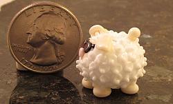 Lampworking White Sheep